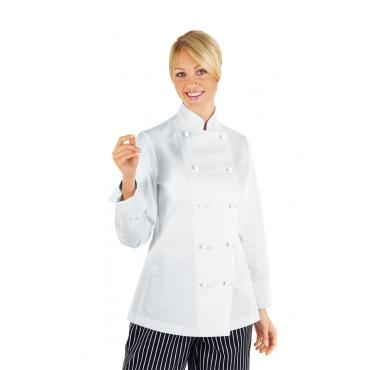 GIACCA LADY CHEF BIANCO ISACCO